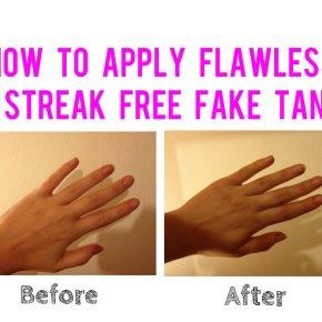 How To Apply Flawless, Streak Free Fake Tan: Hands &Feet