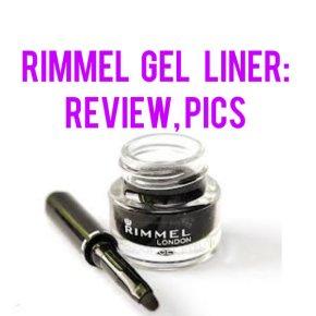 Rimmel Gel Liner: Review,Pics