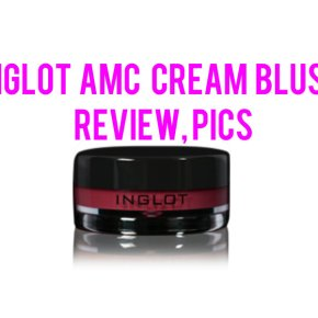 Inglot AMC Cream Blush: Review, Pics