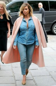 Kim Kardashian Double Denim